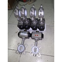 Butterfly Valve Stainless With Pneumatik