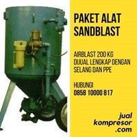 Jual Mesin Bekas Alat Sand Blast 200 Kg Lengkap