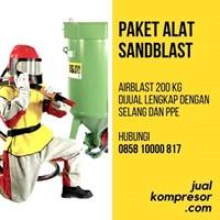 Kompresor Angin Alat Sandblast Lengkap Murah