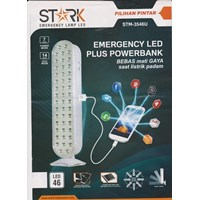 Stark Lampu Emergency LED Plus Powerbank  Bebas Mati Gaya Saat Listrik Padam