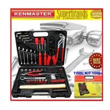 Kotak Perkakas Kenmaster Tool Kit 100 PCS N2