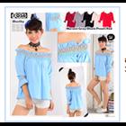 Baju Atasan Wanita Material Bubble - 6 Warna 1