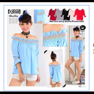 Baju Atasan Wanita Material Bubble - 6 Warna