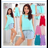 Baju Atasan Wanita Scuba - 6 Warna