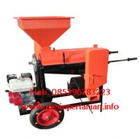 Jual Mesin Pengupas Kulit Kopi Kering - Mesin Huller Kopi Besi - Portable dengan Roda - Kopi