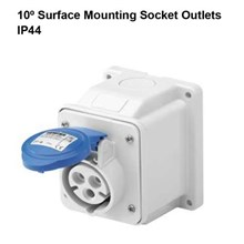 Surface mounting socket outlet IP44