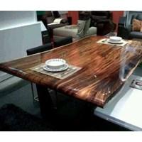 Jual meja makan kayu asam solid