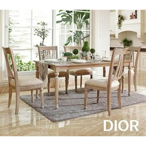 meja makan DIOR set 6 kursi