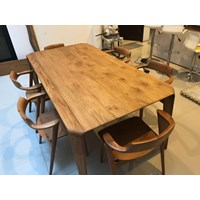 meja kursi kayu  solid