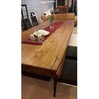 meja kayu jati solid