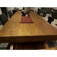 meja dan kursi kayu jati solid