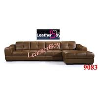 sofa L kulit  1