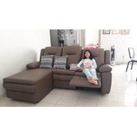 sofa L kulit recliner