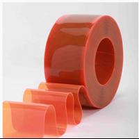 Tirai PVC Curtain Orange  ( Lucky 081210121989)