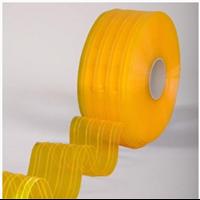 Tirai PVC Curtain Ribbed Double Yellow Malang ( Lucky 081210121989)