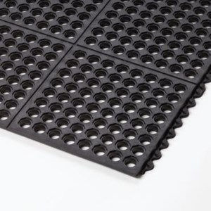 Rubber Mat Perforated Holes