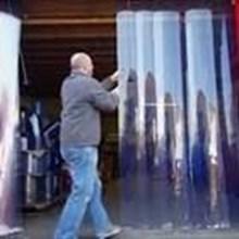 Tirai pvc curtain atau tirai penyekat gudang