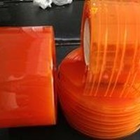 Tirai Pvc Curtain Orange Double Ribbed Makasar(Lucky 081210121989)