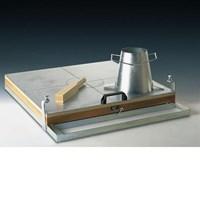 Alat Uji Sebar beton dengan Flow table 1