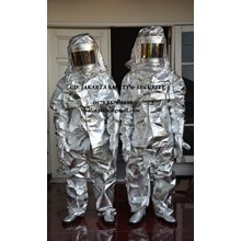 PAKAIAN SAFETY FIREMAN FIRE FIGHTHER OUTFIT SUIT PROXIMITY APPROACH SUIT ALUMINIUM 600 C MURAH JAKARTA