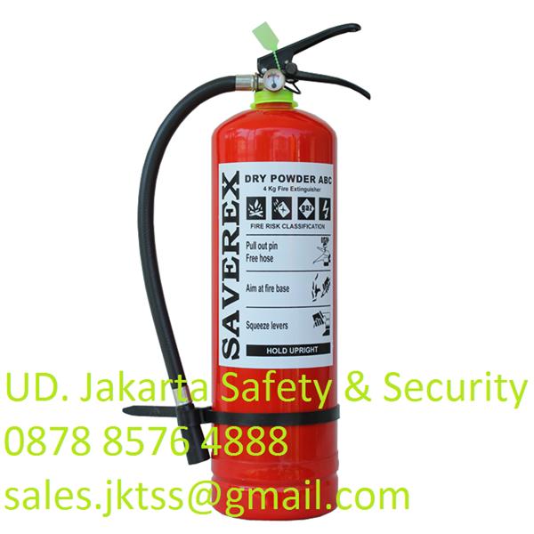 RACUN API TABUNG ALAT PEMADAM KEBAKARAN API RINGAN PORTABLE FIRE EXTINGUISHER MEDIA BUBUK ABC DRYCHEMICAL POWDER KAPASITAS 4KG