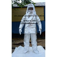 PAKAIAN SAFETY FIREMAN FIRE FIGHTHER OUTFIT SUIT PROXIMITY APPROACH SUIT ALUMINIUM 1000 C MURAH JAKARTA