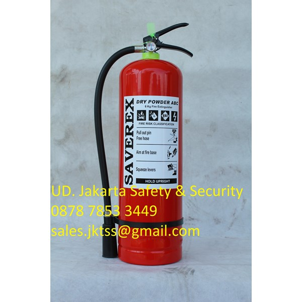 RACUN API TABUNG ALAT PEMADAM KEBAKARAN API RINGAN PORTABLE FIRE EXTINGUISHER MEDIA BUBUK ABC DRYCHEMICAL POWDER KAPASITAS 6KG