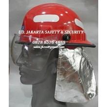 HELM SAFETY  PEMADAM KEBAKARAN FIBER FIREMAN HELMET LOKAL MURAH JAKARTA