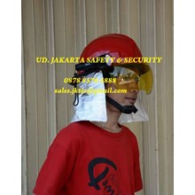 HELM SAFETY FIREMAN FIRE FIGHTER HELM PEMADAM KEBAKARAN CBU KOREAN STYLE COMBINED FLASH LIGHT