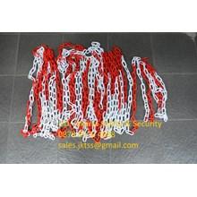 PEMBATAS KEAMANAN JALAN KENDARAAN (PLASTIC CHAIN RANTAI PLASTIC)