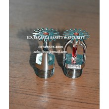 FIRE SPRINKLER HEAD PANDANT 1-2inc RED MERAH 68c GLASS