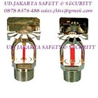 FIRE SPRINKLER SIDEWALL 1-2INC RED MERAH 68C GLASS