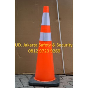 From TRAFFIC CONE CONES the LIMITING TRAFFIC ROAD VEHICLE SAFETY PVC RUBBER RED BASE HEIGHT 70 cm 1