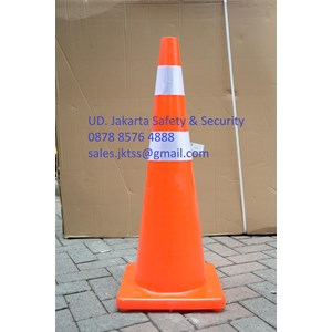 From TRAFFIC CONE ROAD VEHICLE SAFETY SAFETY PVC HIGH QUALITY REFLECTIVE RED BASE 36 INCH DIAMETER 1