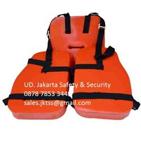 PAKAIAN SAFETY BAJU PELAMPUNG MARINE WORK VEST FOR OIL PLATFORM