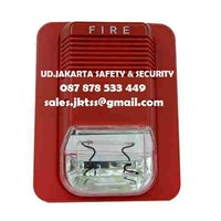 FIRE ALARM STROBE SOUNDER BUZZER LIGT 24 VDC ALARM KEBAKARAN API MURAH JAKARTA