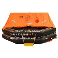 PERALATAN LAUT LIFE RAFT 20 PERSON YOULONG INFLATABLE LIFE RAFT SOLAS LIFE RAFT APPROVAL