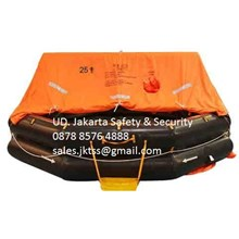 PERALATAN LAUT LIFE RAFT 25 PERSON YOULONG INFLATABLE LIFE RAFT SOLAS LIFE RAFT APPROVAL