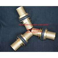 Jual MACHINO FIRE HOSE CONNECTION COUPLING KUNINGAN 2INC
