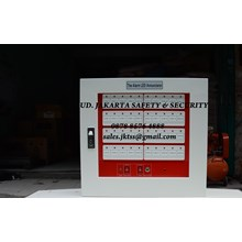 FIRE ALARM KEBAKARAN API ANNOUNCIATOR PANEL 40 ZONE STEEL FACP CONVENTIONAL HARGA MURAH JAKARTA