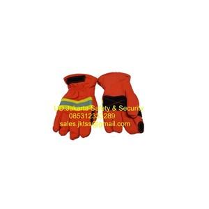 fire fighter gloves sarung tangan pemadam kebakaran api aramid pmk orange murah jakarta