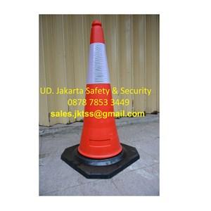 traffic cone kerucut keamanan jalan durable EVA 70 cm murah
