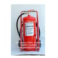 alat pemadam kebakaran api besar APAB racun api beroda saverex 50 kg trolly harga murah 1