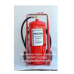 alat pemadam kebakaran api besar APAB racun api beroda saverex 50 kg trolly harga murah