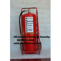 Jual alat pemadam kebakaran api besar drychemical powder saverex 75 kg trolley china murah jakarta 2