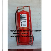 alat pemadam kebakaran api besar drychemical powder saverex 75 kg trolley china murah jakarta