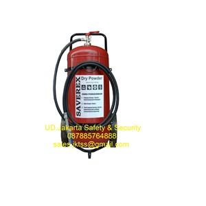 alat pemadam kebakaran api besar beroda racun semprot api APAB saverex 100 kg trolly murah