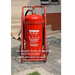 alat alat pemadam kebakaran api besar merdeka 25 kg trolly harga murah