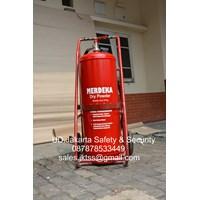 tabung isi media abc drychmical powder  alat alat pemadam kebakaran api besar apab 75 kg trolly murah jakarta 1