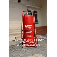 tabung isi media abc drychmical powder  alat alat pemadam kebakaran api besar apab 75 kg trolly murah jakarta